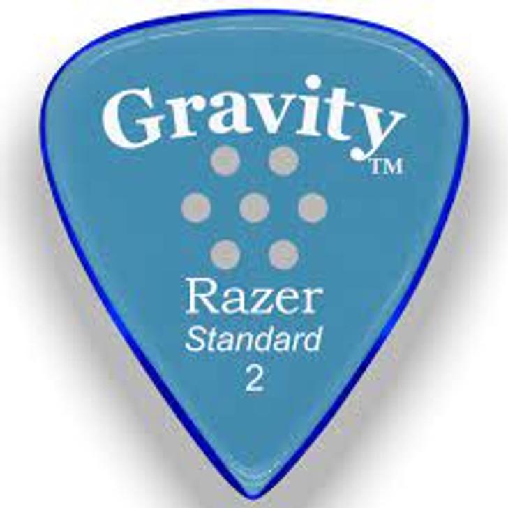 Gravity Razor Standard 2mm Blue Pick