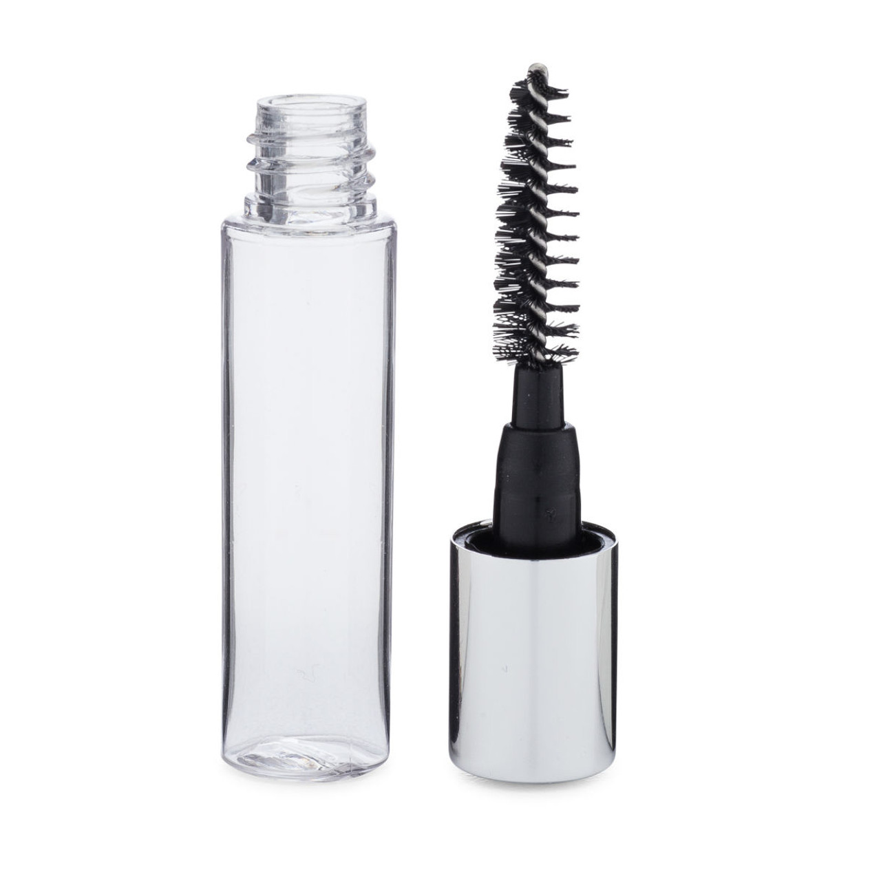 20eac344d65 3.5 ml Clear Plastic Mascara Tube with Brush beside tube