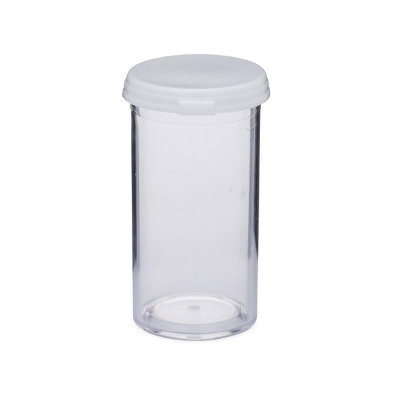 6349892733bd 7 Dram (26 ml) Clear Polystyrene Plastic Vials (White Cap) - AS107