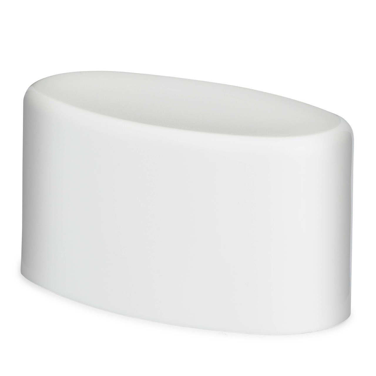 White PP Plastic Flat Top Cap for Deodorant Sticks - 1124C01WHT