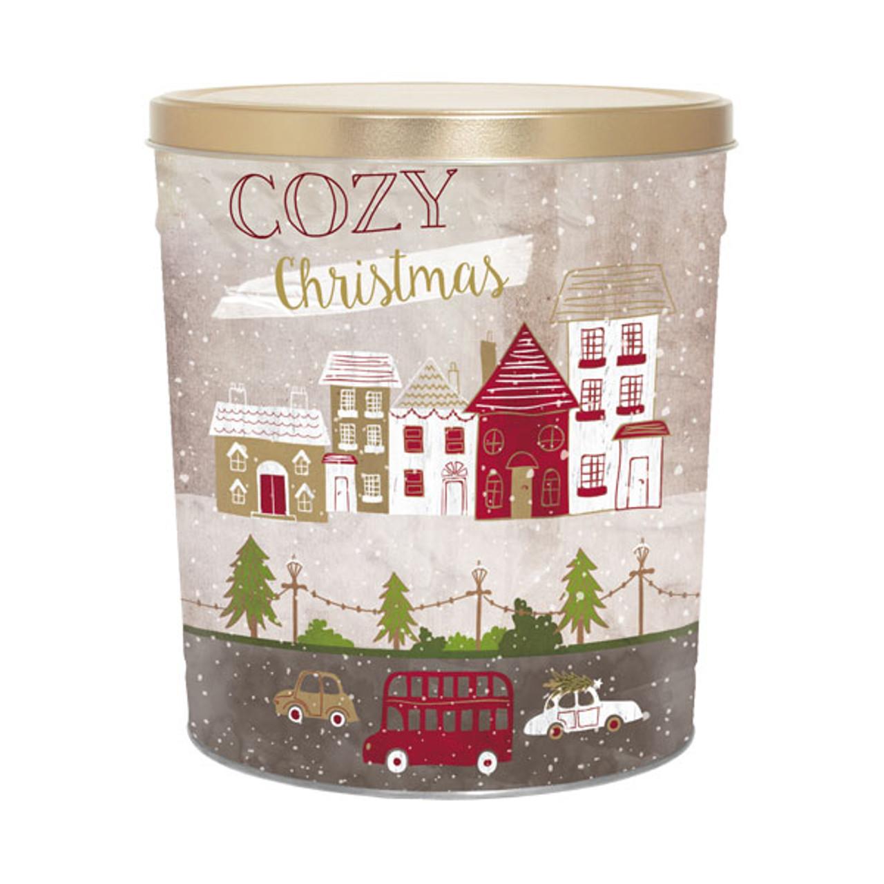 Christmas Tins.3 5 Gal Decorative Holiday Tins Cozy Christmas 9111t23cozy