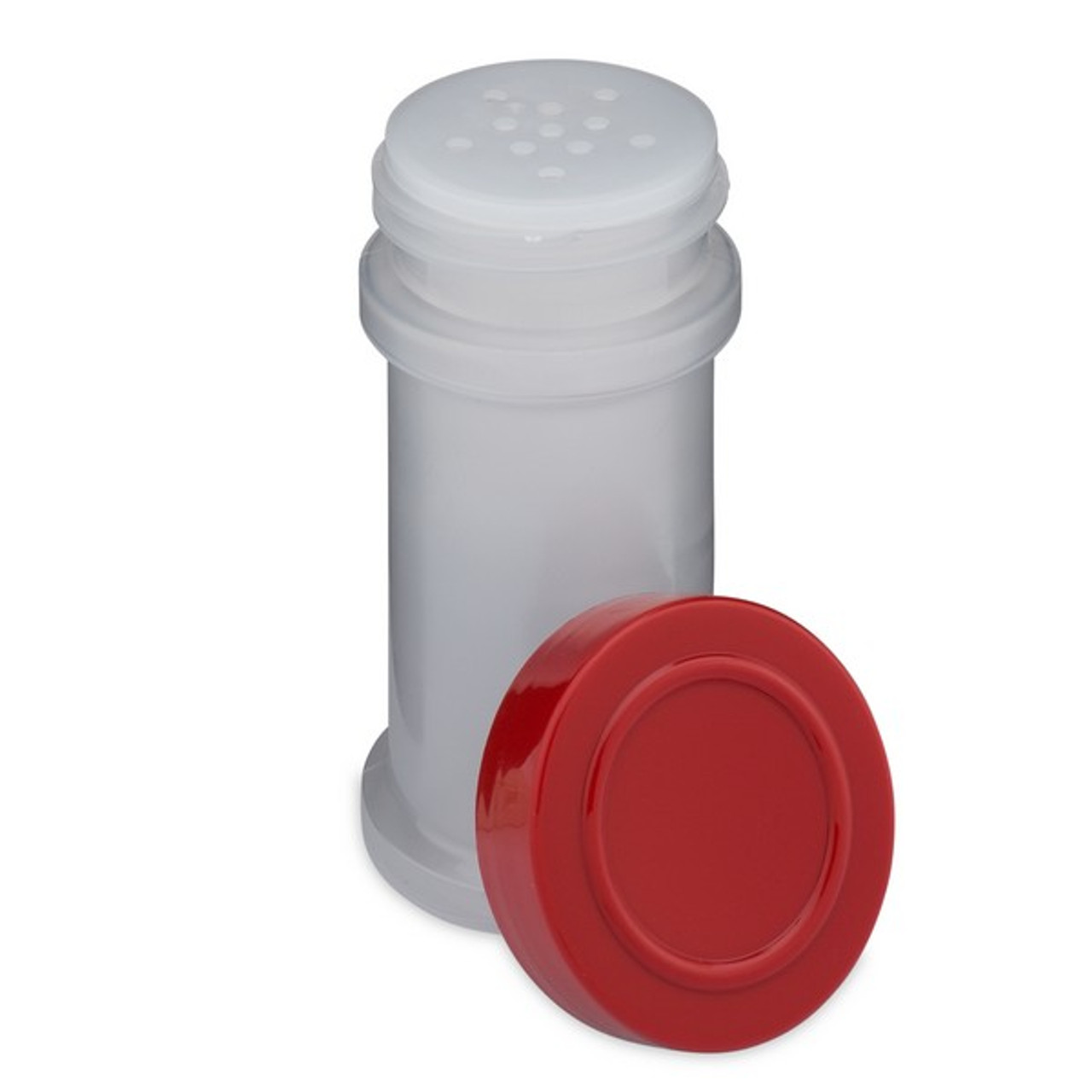 97021676a434 4 oz Natural PP Plastic Spice Jars (Red Cap) - 2302B06RED