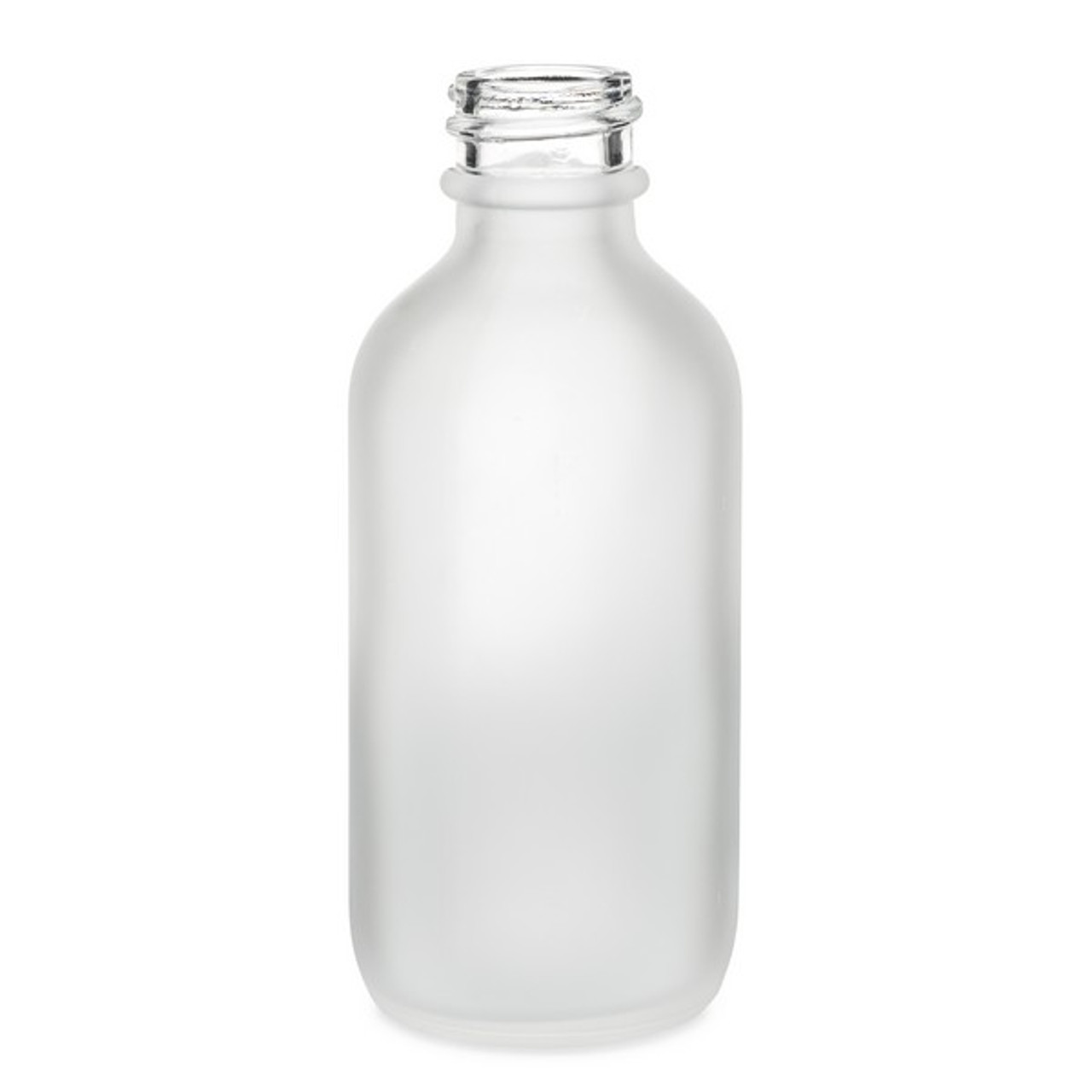 4d7ba4ca215c 2 oz Frosted Glass Boston Round Bottle (Cap Not Included) - 4700B05-BCLR