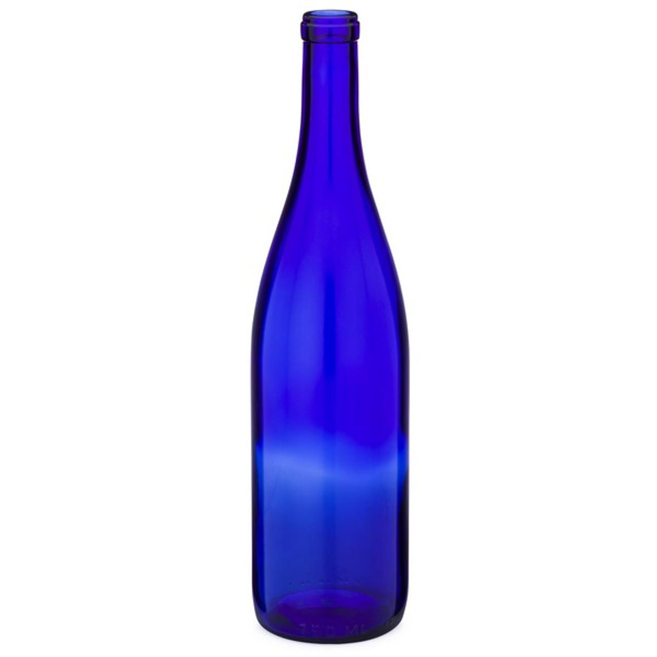 f676e467f5e7 750 ml Blue Glass Hock Wine Bottles, Cork Finish - 6005B01BLU