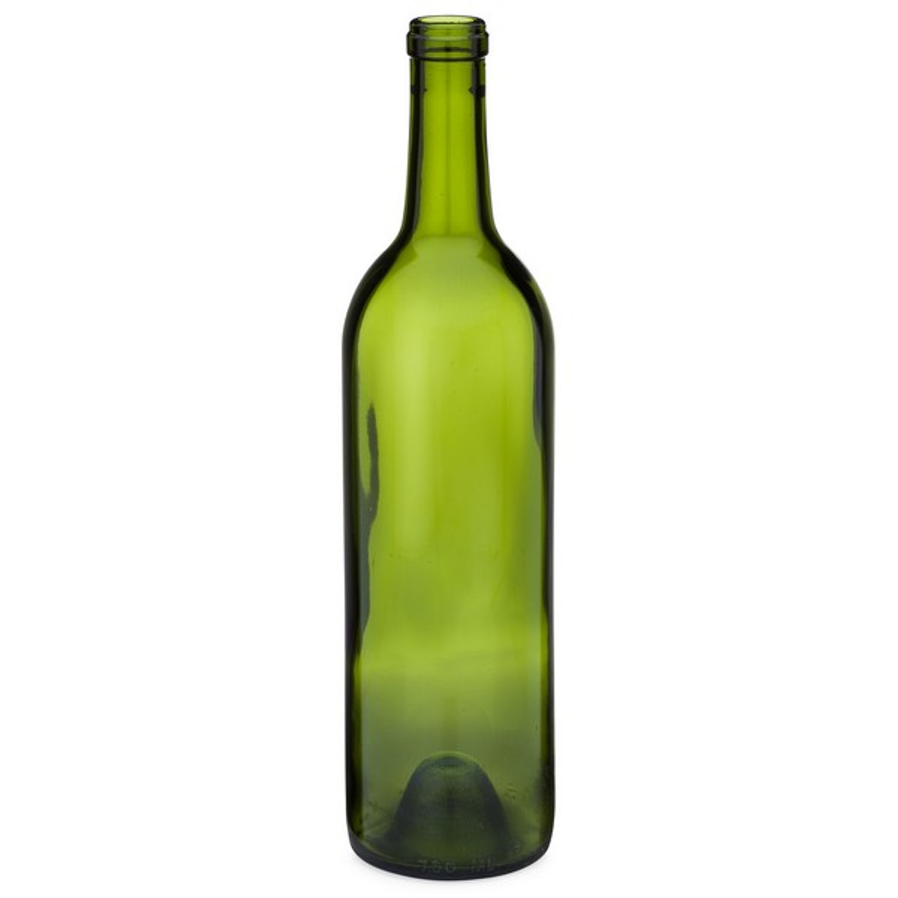 750 ml Champagne Green Glass Claret Wine Bottles, Cork Finish - 6042B43GRN