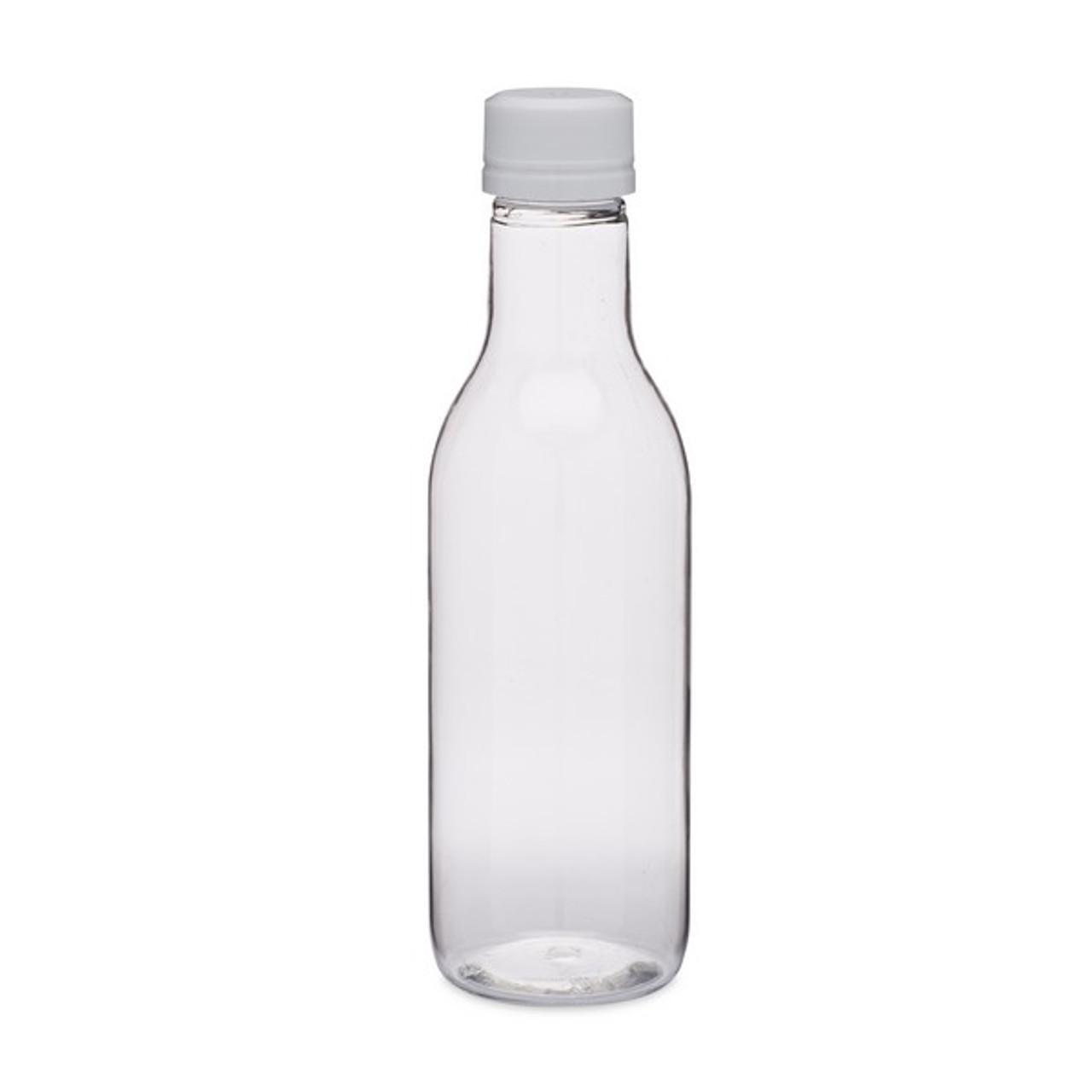 5e8f3d87209f 320 ml Clear PET Plastic Liquor Bottles (White Tamper-Evident Cap) - 7100B03