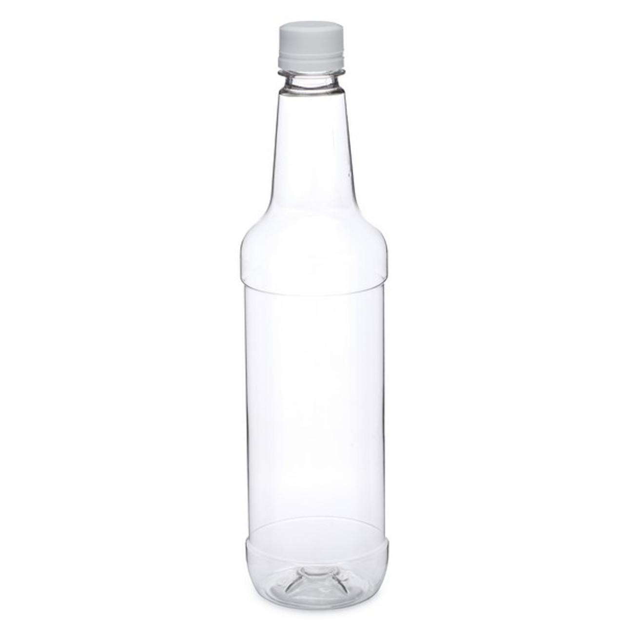 65403a5cf3ca 750 ml Clear PET Plastic Liquor Bottles (White Tamper-Evident Cap) - 7100B05