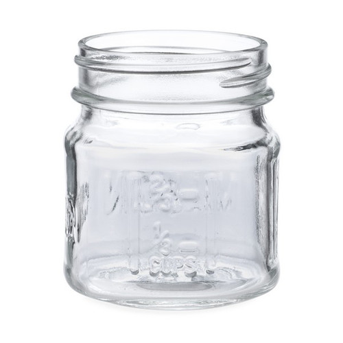 8 oz Screw Top Storage Jars- White//Silver//Black Lids LOT OF 12 SPECIFY COLOR