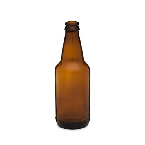 45012HER-B - 12 oz Amber Glass Heritage Beer Bottles (Cap Not Included)