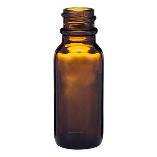 0.5 oz Amber Glass Boston Round Bottles - 4699B01BULABR