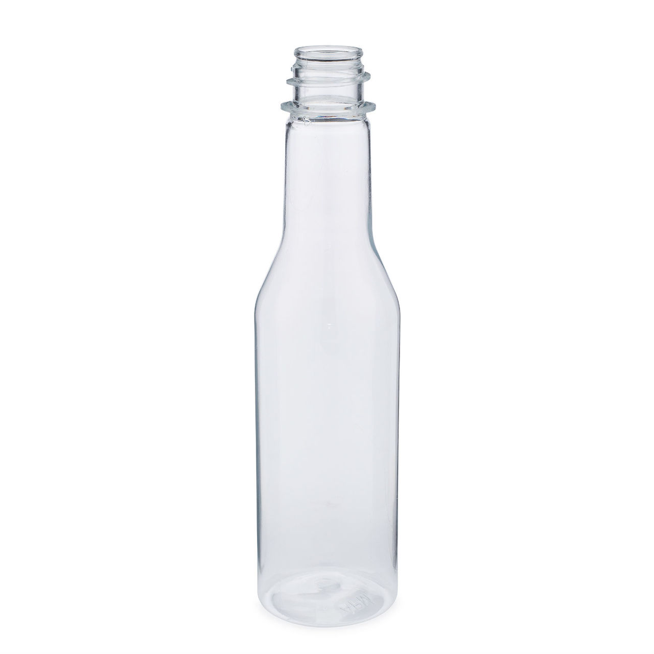 5 oz Clear PET Plastic Hot Sauce Bottles (Cap Not Included) - 3492B01-B
