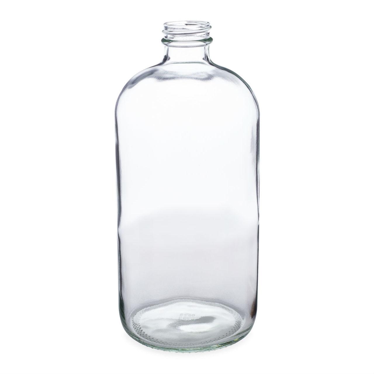 ea176e52cb7e 32 oz Clear Glass Boston Round Bottles - Bulk Pallet - 4699B13BULCLR