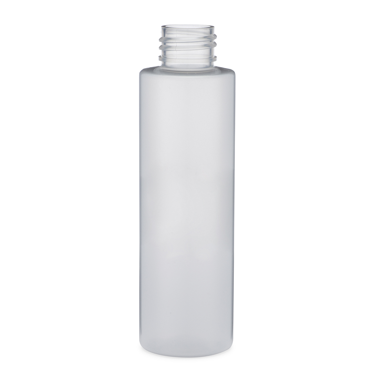 23059d81bff1 4 oz Clear Frosted PET Plastic Cylinder Bottles (Cap Not Included) -  3570B03-B