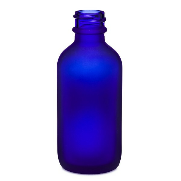 4d3aef06b7d3 2 oz Blue Frosted Glass Boston Round Bottle *Value Pack* - 4700B05VALBLU