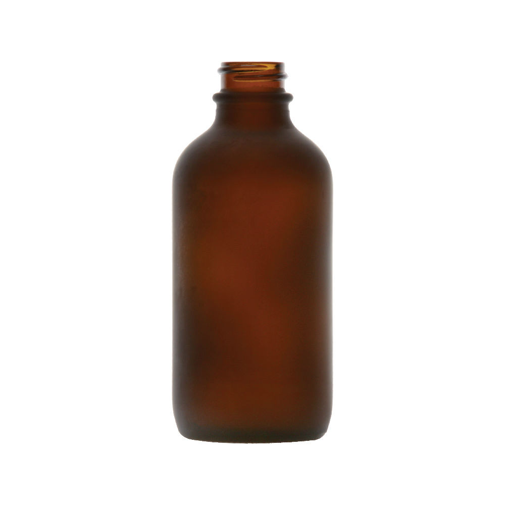 2f04a60af0 4 oz Amber Frosted Glass Boston Round Bottles *Bulk Pallet* - 4700B07BULABR