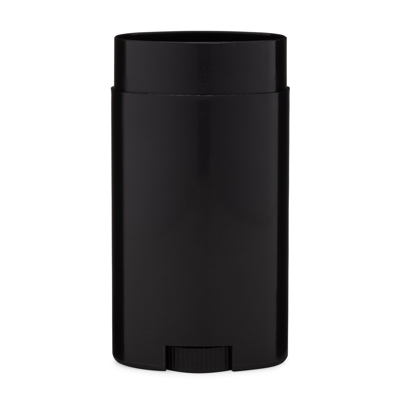 2 65 oz Black PP Plastic Deodorant Stick (Cap Not Included) - 1124B01-BBLK