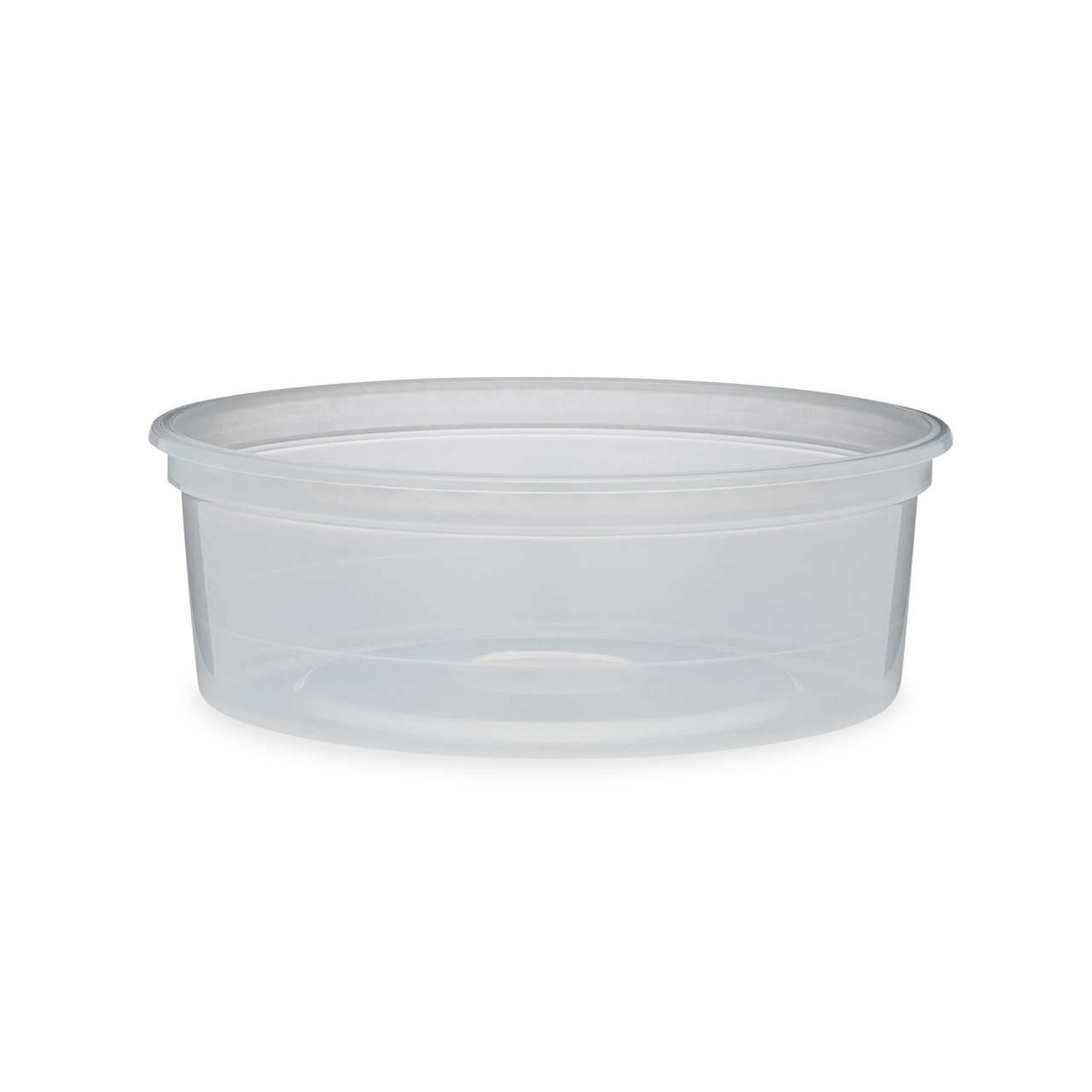 b38ec1c447d7 8 oz Natural PP Plastic Round Snap-Lock Containers - 29110-B