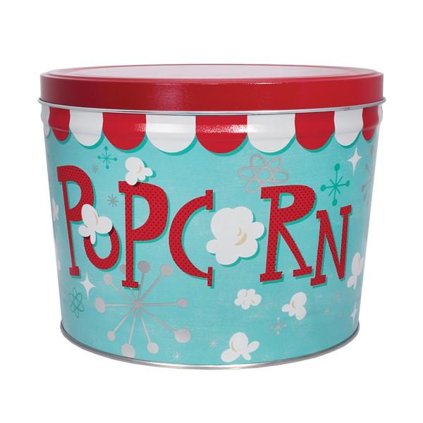 2 Gal Decorative Tins Popcorn Blast Berlin