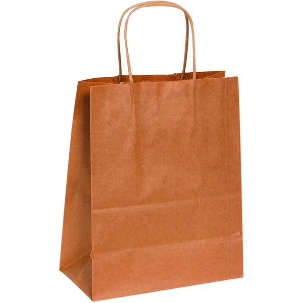 8in X 4 5in X 10 25in Kraft Shopping Bags With Handle Berlin