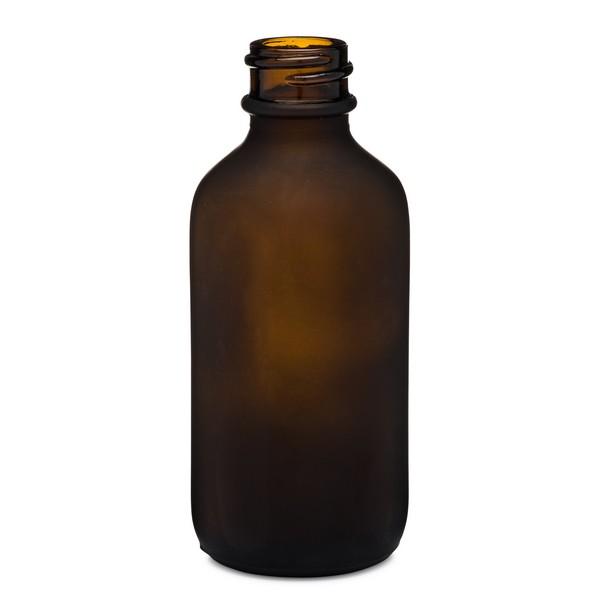 c6fef49710 2 oz Amber Frosted Glass Boston Round Bottles *Bulk Pallet* - 4700B05BULFABR