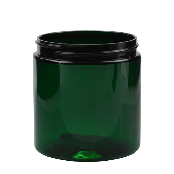 8 oz Green PET Straight Sided Jars (Cap Not Included) - 2852B07-BGRN