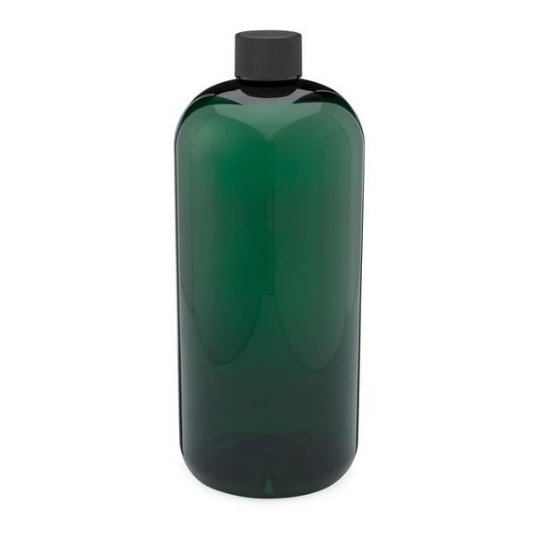 d00c71d77725 32 oz Green PET Plastic Boston Round Bottles - 3371B13GRN