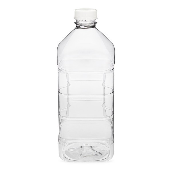 EcoQuality 30 PACK Empty Plastic Juice Bottles with Tamper Evident Caps 64 OZ