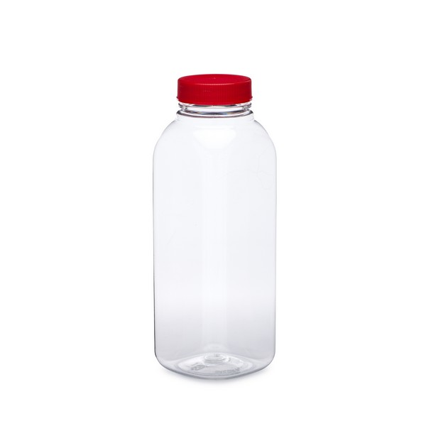 Bottles Red Cap Clear White Plastic Laboratory Measuring Squeeze Bottle 500ml Feeding