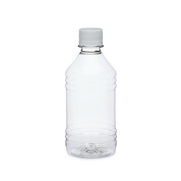 668e98bd0e 12 oz Clear PET Plastic Short Water Bottles (White Tamper Evident Cap) -  4691B02