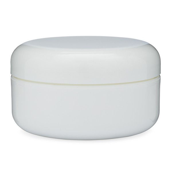 PP Lot 4 Double Wall Plastic Container With Lined White Dome Cap