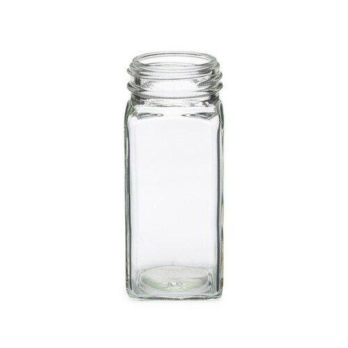 4 oz Clear Glass Square Spice Jars with Caps| Bulk | Berlin