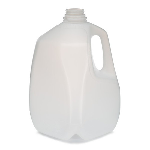 Empty White Opaque Plastic Jerry Can  Bottle 1 Litre with screw cap lid