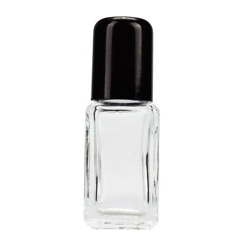 0 5 oz Glass Square Perfume Bottle (Black Urea Cap) | Berlin