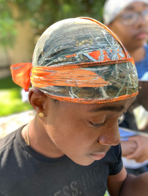 Orange Camo True Timber Durag