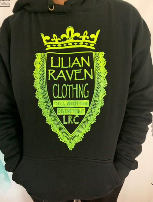 LRC Black and Lime Womens Hoodie