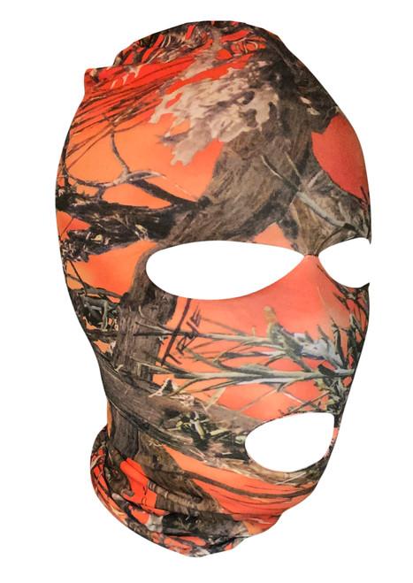 Ski Mask Orange Camo, True Timber 3 holes