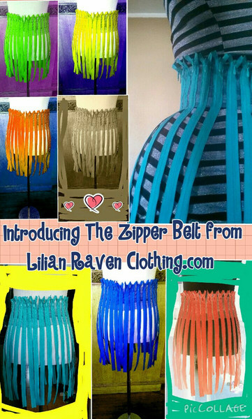 Nylon zipper belt