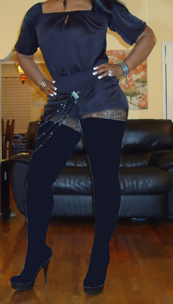 Black Spandex Higher than Thigh High Boots