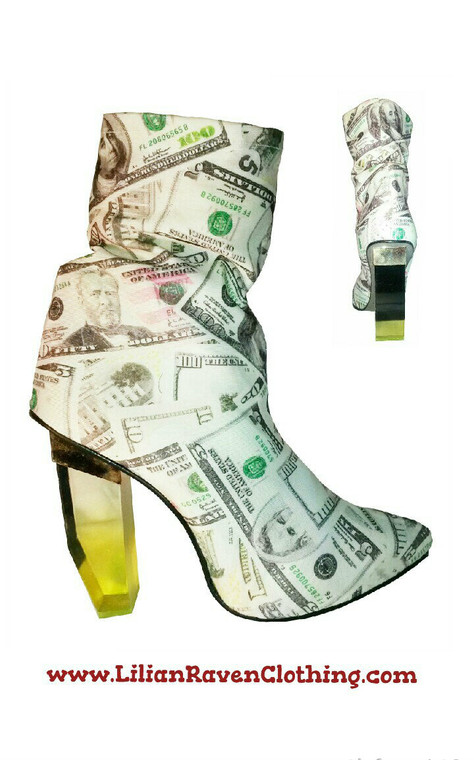 Step into money ankle boot