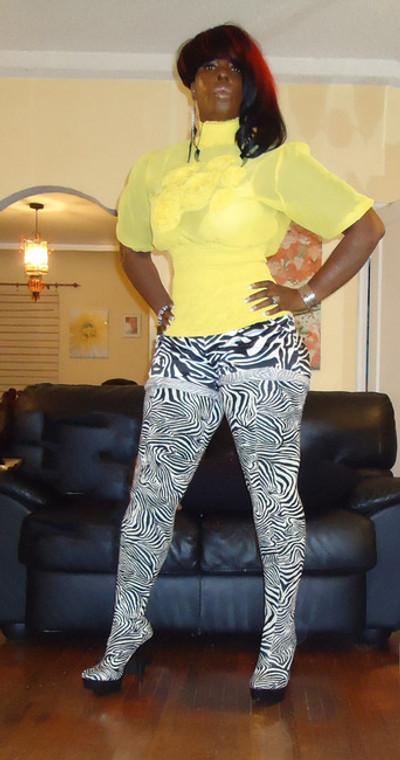 Zebra Print Higher than thigh high boots