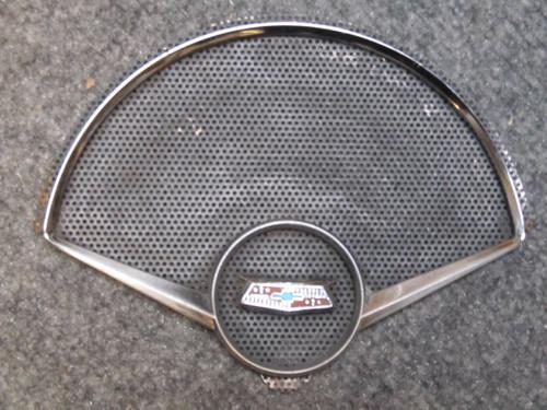 1953-57 CORVETTE SPEAKER grill BEZEL EMBLEM RADIO GOOD USED
