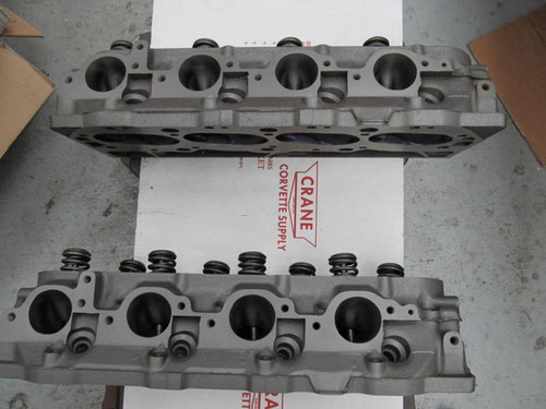 1967 427 corvette rectangle port cylinder heads 3904391 rebuilt stock A-21-67