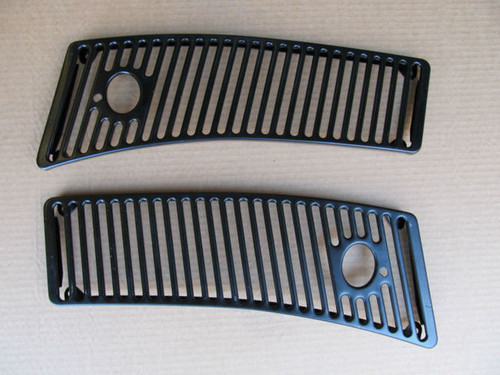 63-64-65-66-67 Corvette NEW PAIR  COWL WINDSHIELD WIPER  VENT GRILLS grille new pair exact NEW