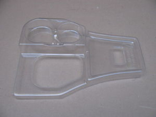 63-67 Corvette C2 SHIFTER CONSOLE COVER CUP HOLDER - clear plastic protector