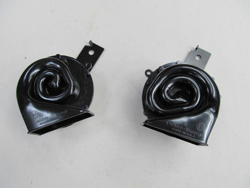 63-67  Corvette NEW HORNS PAIR DELCO MADE IN USA exact reproduction repro horn