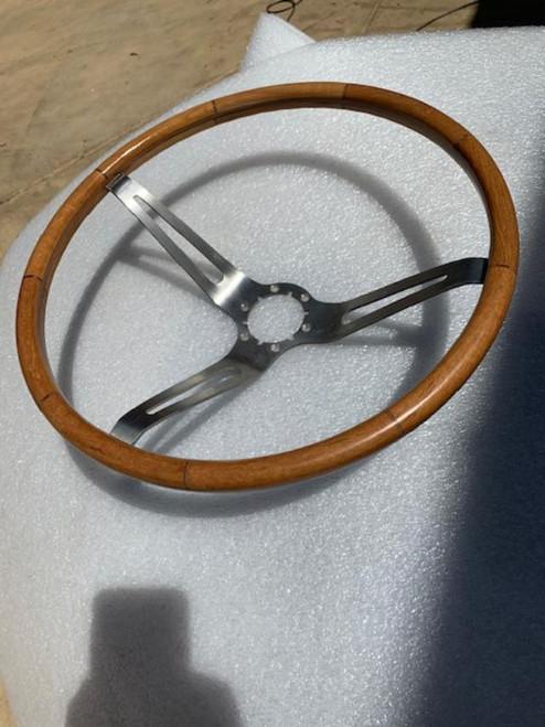 1963-64-65-66 Corvette Teakwood Steering Wheel Real Teak wood. see pics and segments.