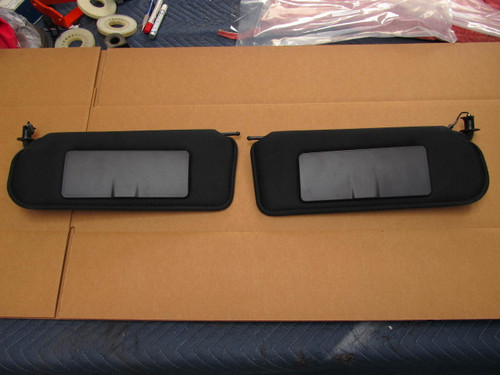 1997-04 CORVETTE VANITY MIRROR C5 NEW BLACK SUNVISOR PAIR