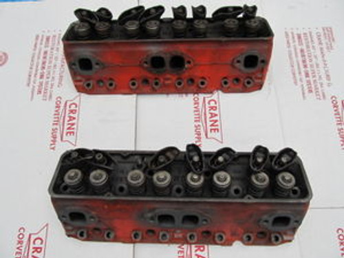 1957 Corvette dated L-6-6 Dec.-56 CYLINDER HEADS PAIR 3740997  997 DUAL QUAD 2X4