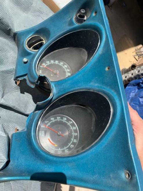 1969-71 CORVETTE LOWER DASH DRIVERS GAUGE CLUSTER  HEAD LIGHT SWITCH VENT