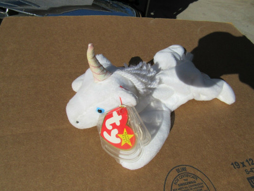 1993 VERY RARE TY MYSTIC-Beanie-Baby With Iridescent/pearl Horn WITH tag ERRORS